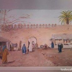 Arte: ZOCO MORUNO. ÁRABE ORIENTALISTA. LIENZO 55X33.. Lote 91974875