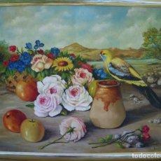 Arte: OLEO SOBRE LIENZO FIRMADO ANDRES 1965. BONITO BODEGÓN .. Lote 92058380