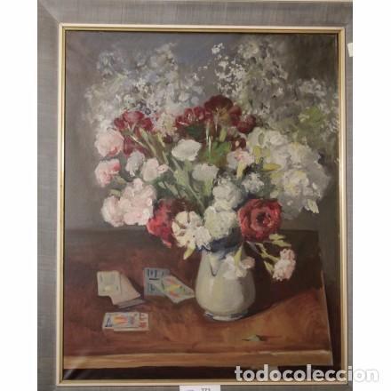 PRYM GUYTO, JOSEP MARÍA. LIENZO 81X65. BODEGÓN FLORAL (Arte - Pintura - Pintura al Óleo Contemporánea )