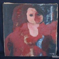 Arte: JORDI CASACUBERTA I CODINACH (OLOT, GARROTXA, 1944) PINTURA SOBRE TELA, DEL 1977. 54 X 53,5. Lote 92277510