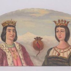 Arte: BONITO OLEO S/ LIENZO. REYES CATOLICOS Y GRANADA. FONDO SIERRA NEVADA. FIRMADO. PRIMERA MITAD S. XX. Lote 92303860