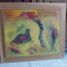 Arte: ORIGINAL DE RUFINA SANTANA. LANZAROTE. OLEO SOBRE LIENZO. ENMARCADO. FIRMADO. 46 X 53 CM MEDIDAS. Lote 92368740