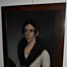 Arte: RETRATO REALISMO ESPECTACULAR CA AÑO 1810 ALEMANA / AUSTRIA. Lote 92738610