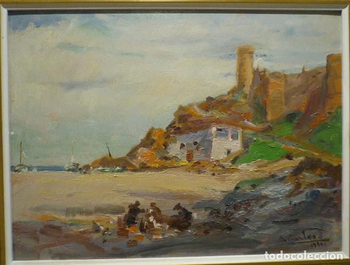 TOSSA DE MAR POR DOMENECH CARLES (1888-1962) (Arte - Pintura - Pintura al Óleo Contemporánea )