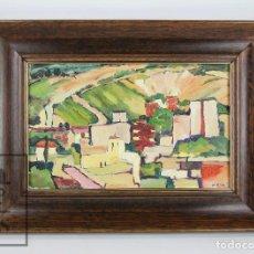 Arte: PINTURA AL ÓLEO SOBRE TABLA - FIRMADO M. RICH - VISTA DE PUEBLO - AÑOS 50-60 - MEDIDAS 48 X 35 CM. Lote 92977360