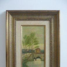 Arte: OLEO TABLA PAISAJE SIGLO XIX FIRMADO M.PAREJO 1898.. Lote 93167400