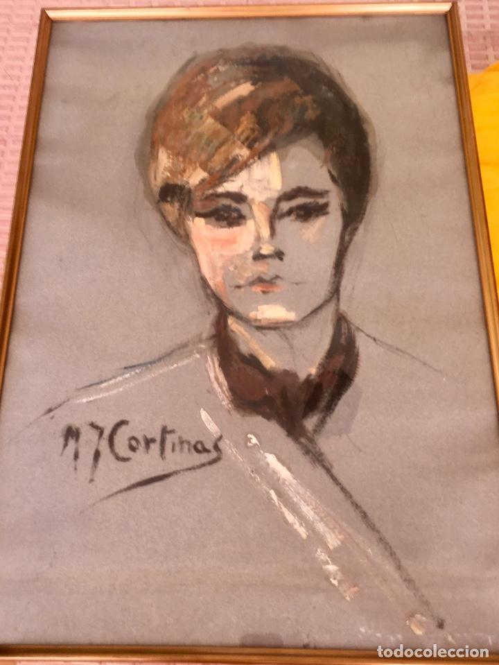 Arte: Cuadro al oleo maria joaquina cortinas escuela gutierrez navas retrato mujer enmarcado y con cristal - Foto 3 - 93251455