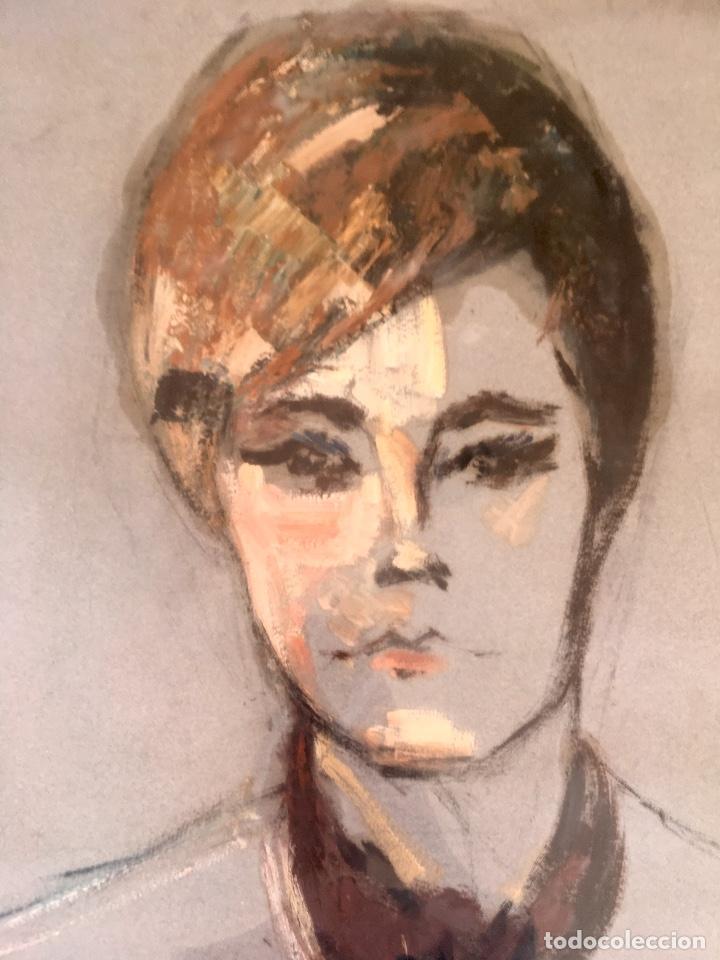 Arte: Cuadro al oleo maria joaquina cortinas escuela gutierrez navas retrato mujer enmarcado y con cristal - Foto 4 - 93251455