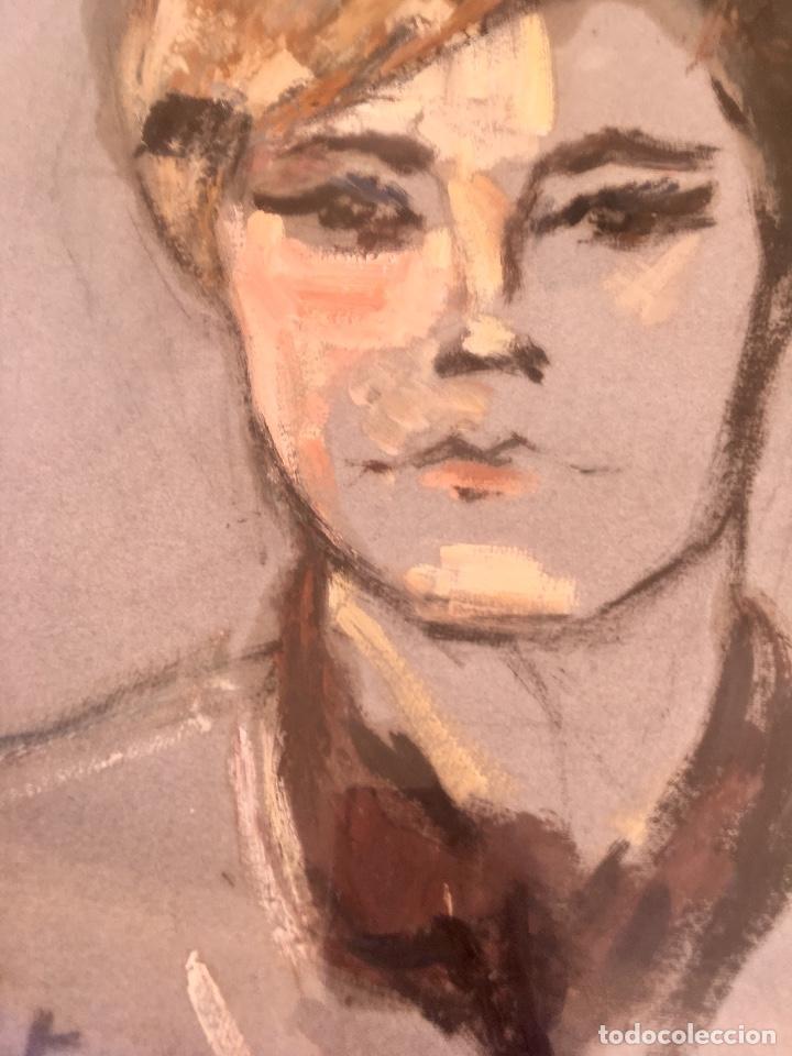 Arte: Cuadro al oleo maria joaquina cortinas escuela gutierrez navas retrato mujer enmarcado y con cristal - Foto 5 - 93251455