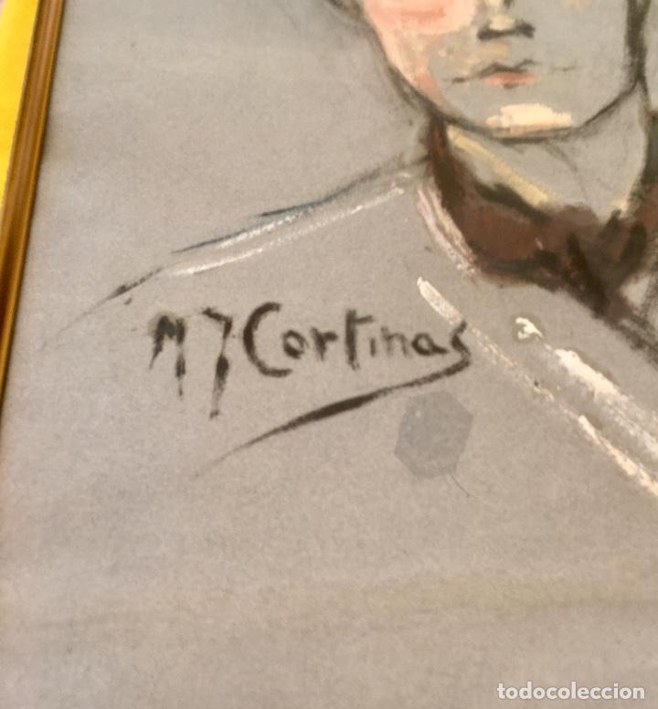 Arte: Cuadro al oleo maria joaquina cortinas escuela gutierrez navas retrato mujer enmarcado y con cristal - Foto 7 - 93251455