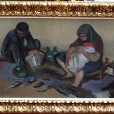 Arte: ALFREDO OPISSO CARDONA (BARCELONA, 1907- MATARÓ, 1980) OLEO SOBRE TELA. MENDIGOS. GRAN TAMAÑO!!. Lote 93254420