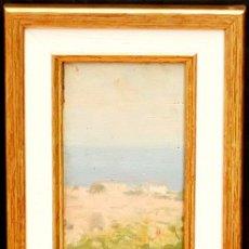Arte: ELISEO MEIFRÉN I ROIG (1857-1940) OLEO SOBRE TABLA. VISTA COSTERA. Lote 93255185