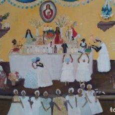 Art: CUADRO NAÍF PINTADO AL ÓLEO FIRMADO GILKA. Lote 93278265