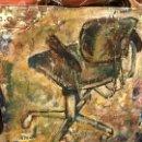 Arte: SILLA DE OFICINA, CURIOSO COLLAGE DE GRAN CALIDAD AÑOS 80. Lote 93586350