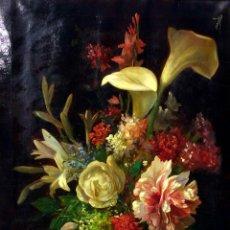 Kunst - BODEGÓN CON FLORES. ÓLEO SOBRE LIENZO. FIRMADO RICARD M(ARTI AGUILÓ). ESPAÑA. CIRCA 1880 - 93589655