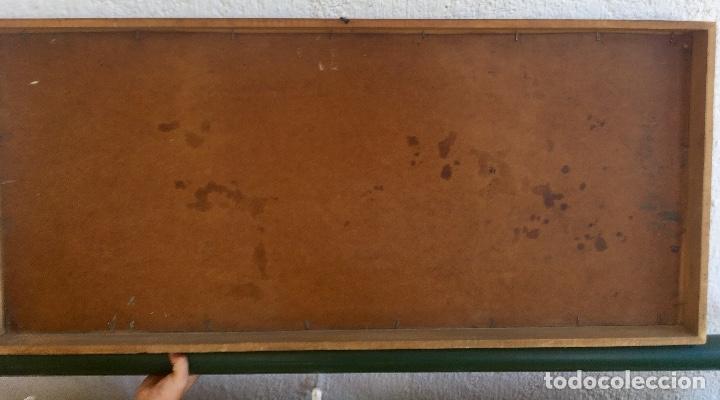 Arte: Cuadro oleo sobre tabla girasoles marco madera rustica sol de Andres 1960 escuela gutierrez navas - Foto 7 - 93599075