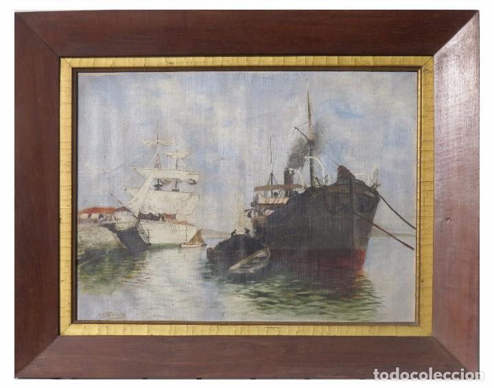 CUADRO PINTURA OLEO SOBRE LIENZO ORDUÑA (Arte - Pintura - Pintura al Óleo Moderna siglo XIX)