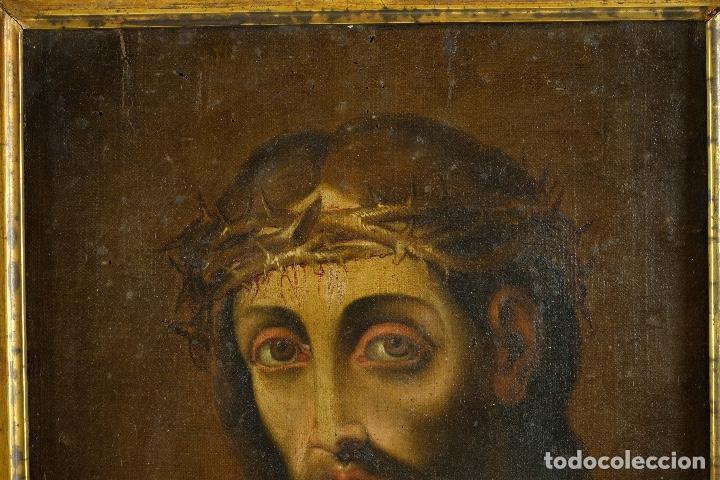 Arte: óleo sobre lienzo Ecce Homo escuela colonial siglo XVIII - Foto 3 - 93685790