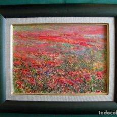 Arte: PRECIOSA OBRA DE JAUME MALARET - CAMPO DE AMAPOLAS - OLEO SOBRE TABLA, PERFECTO ESTADO. Lote 93713530