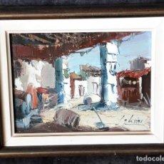 Arte: OLEO IGLESIAS. 31X26 CM. Lote 93727215