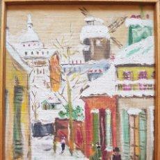 Arte: CUADRO, ALAMEDA AL OLEO, FIRMADO G MORELLON, PERFECTO ESTADO. Lote 93735175