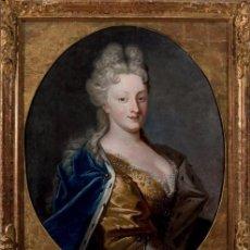 Arte: OLEO SOBRE LIENZO. RETRATO DE PRINCESA. SIGLO XVIII. CÍRCULO DE GEORG DESMARÉES.. Lote 93742020