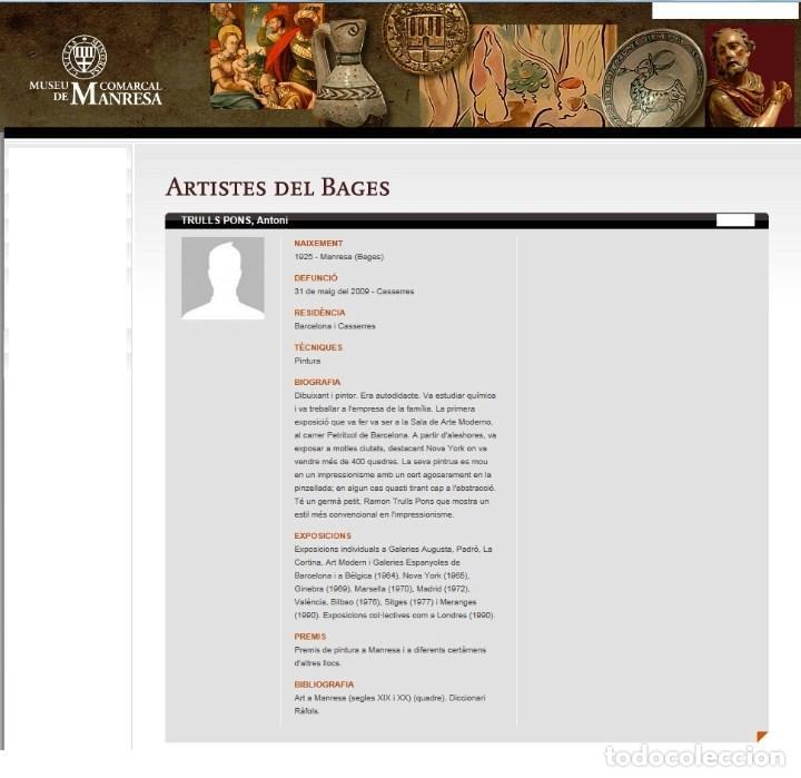 Arte: ANTONI TRULLS PONS - OLEO SOBRE TELA - ENMARCADO 35 X 30 - Foto 4 - 93747875