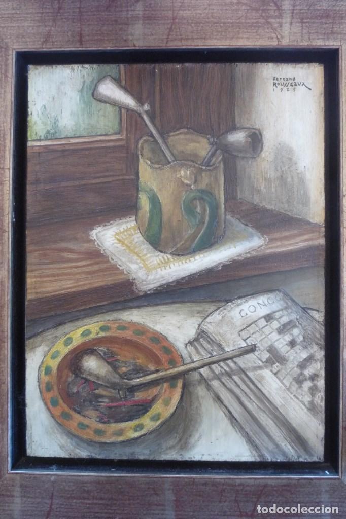 FERNAND ROUSSEAUX. PINTOR-ESCULTOR 1892-1971. BODEGON CUBISTA 1925. OLEO SOBRE TABLA. OIL ON BOIS. (Arte - Pintura - Pintura al Óleo Moderna sin fecha definida)