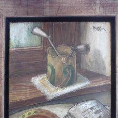 Arte: FERNAND ROUSSEAUX. PINTOR-ESCULTOR 1892-1971. BODEGON CUBISTA 1925. OLEO SOBRE TABLA. OIL ON BOIS.. Lote 93763640