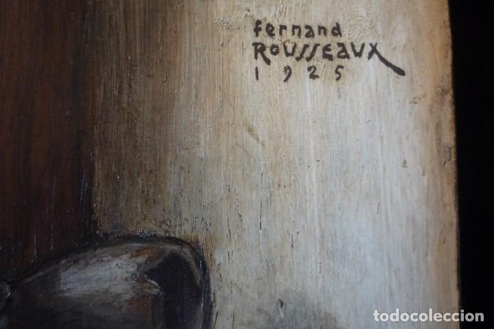 Arte: FERNAND ROUSSEAUX. PINTOR-ESCULTOR 1892-1971. BODEGON CUBISTA 1925. OLEO SOBRE TABLA. OIL ON BOIS. - Foto 2 - 93763640