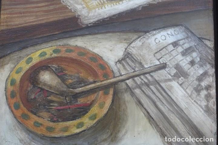 Arte: FERNAND ROUSSEAUX. PINTOR-ESCULTOR 1892-1971. BODEGON CUBISTA 1925. OLEO SOBRE TABLA. OIL ON BOIS. - Foto 6 - 93763640