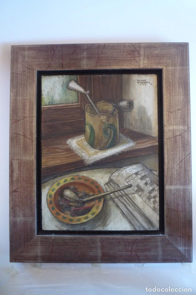 Arte: FERNAND ROUSSEAUX. PINTOR-ESCULTOR 1892-1971. BODEGON CUBISTA 1925. OLEO SOBRE TABLA. OIL ON BOIS. - Foto 7 - 93763640