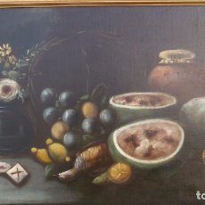Arte: MAGNIFICA PAREJA DE BODEGONES OLEO SOBRE LIENZO SIGLO XVIII ESCUELA ESPAÑOLA,FINA REALIZACION. Lote 93862045