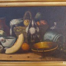 Arte: PINTURA AL OLEO DE SIGLO XVIII,BODEGON DE FRUTAS,ESCUELA ESPAÑOLA. Lote 93862725