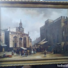 Arte: MERCADO CON PERSONAJES DE ESTILO GOYESCO, FIRMADO:A.DIEGO O H.DIEGO.. Lote 94145380