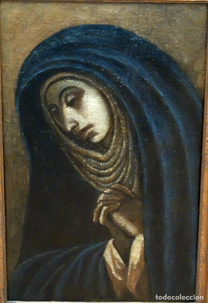 ESCUELA ESPAÑOLA SIGLO XVIII. OLEO EN TELA ARPILLERA. PIEDAD. CON INFORME DE RAMON TRIADO (Arte - Pintura - Pintura al Óleo Antigua siglo XVIII)