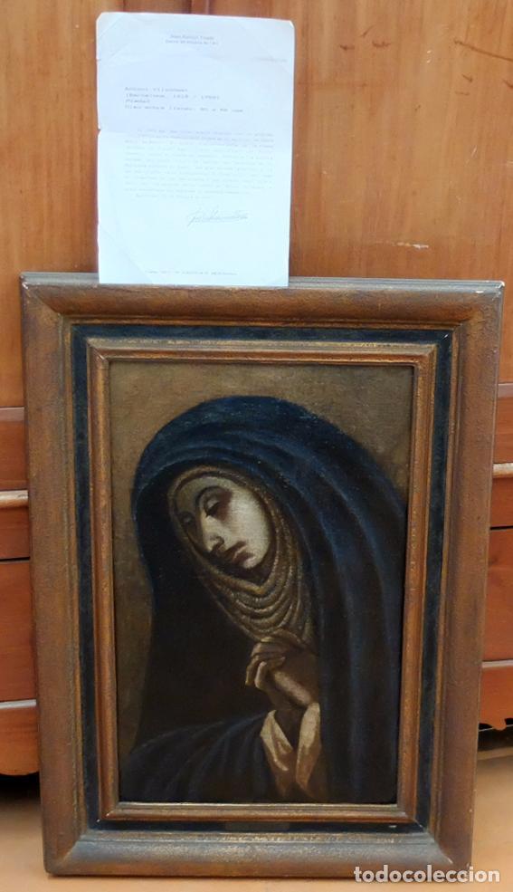 Arte: ESCUELA ESPAÑOLA SIGLO XVIII. OLEO EN TELA ARPILLERA. PIEDAD. CON INFORME DE RAMON TRIADO - Foto 3 - 94298178
