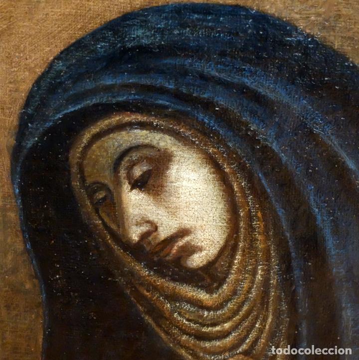 Arte: ESCUELA ESPAÑOLA SIGLO XVIII. OLEO EN TELA ARPILLERA. PIEDAD. CON INFORME DE RAMON TRIADO - Foto 4 - 94298178