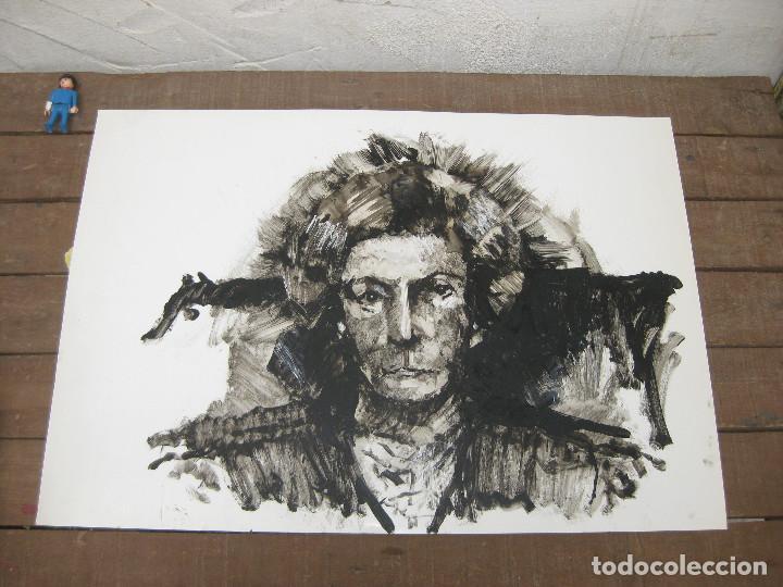 OBRA ORIGINAL RETRATO PINTURA . DE ANTONIO CUESTA VILLEN (Arte - Pintura - Pintura al Óleo Contemporánea )