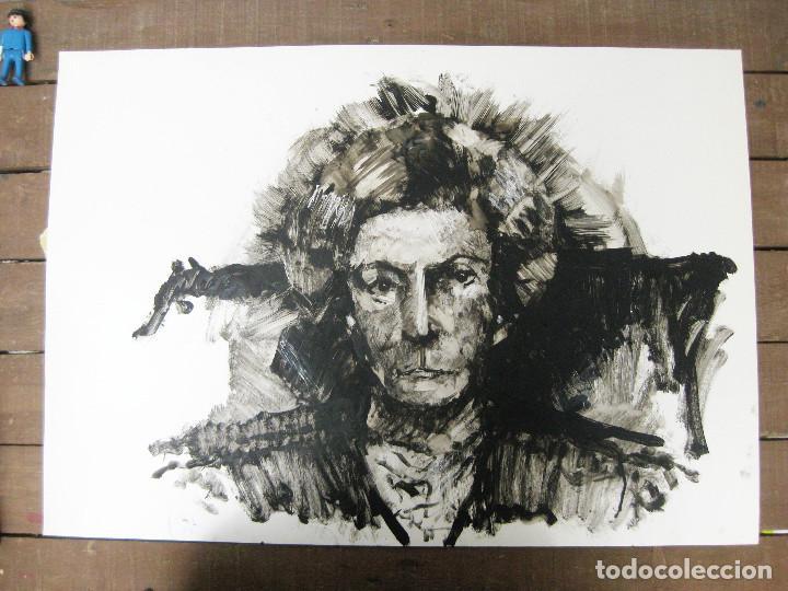 Arte: OBRA ORIGINAL RETRATO PINTURA . DE ANTONIO CUESTA VILLEN - Foto 2 - 94311166