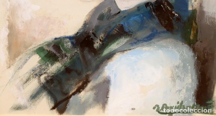 Arte: RAMON AGUILAR MORE (Barcelona, 1924 - 2015) OLEO SOBRE PAPEL. DAMA DE PERFIL - Foto 4 - 94316394