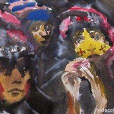 Arte: FANTASTICO DIBUJO PINTUA ORIGINAL 65X52 TOÑO CUESTA ?. Lote 94341194