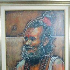 Arte: LUPE ARROYO OLEO SOBRE LIENZO INDIA HINDÚ. Lote 94529822