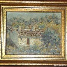 Arte: OLEO SOBRE TABLA , ESCENA RURAL , FIRMADO. Lote 94596907