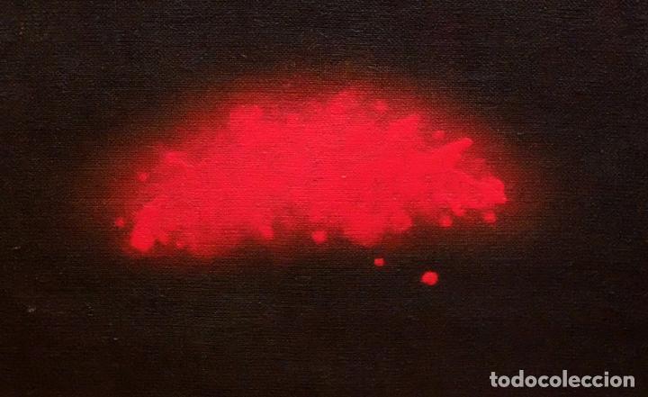 Arte: JOAN ABELLÓ MARTÍN ( BCN 1920 - 2007 ) OLEO TABLA AÑO 1966. TITULADO ELEGIA A MONTSERRAT - Foto 2 - 94628159