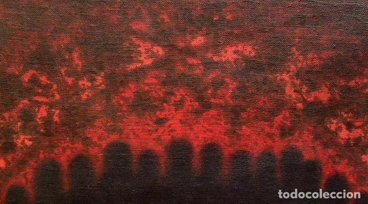 Arte: JOAN ABELLÓ MARTÍN ( BCN 1920 - 2007 ) OLEO TABLA AÑO 1966. TITULADO ELEGIA A MONTSERRAT - Foto 4 - 94628159