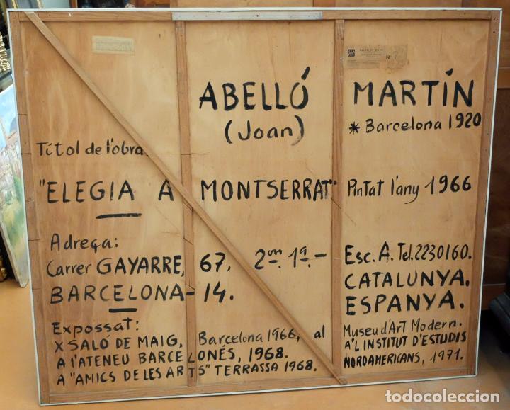 Arte: JOAN ABELLÓ MARTÍN ( BCN 1920 - 2007 ) OLEO TABLA AÑO 1966. TITULADO ELEGIA A MONTSERRAT - Foto 7 - 94628159