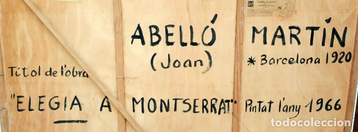 Arte: JOAN ABELLÓ MARTÍN ( BCN 1920 - 2007 ) OLEO TABLA AÑO 1966. TITULADO ELEGIA A MONTSERRAT - Foto 8 - 94628159