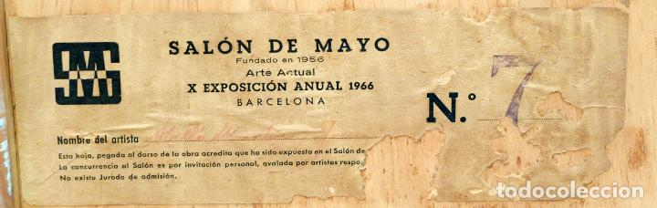 Arte: JOAN ABELLÓ MARTÍN ( BCN 1920 - 2007 ) OLEO TABLA AÑO 1966. TITULADO ELEGIA A MONTSERRAT - Foto 9 - 94628159