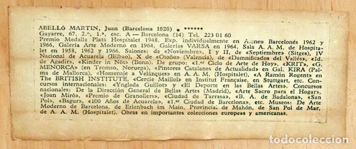 Arte: JOAN ABELLÓ MARTÍN ( BCN 1920 - 2007 ) OLEO TABLA AÑO 1966. TITULADO ELEGIA A MONTSERRAT - Foto 10 - 94628159